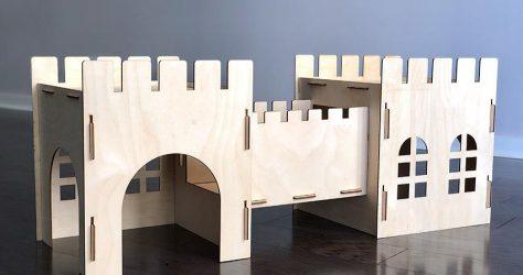 TokiHut – Wooden rabbit castle and bridge set