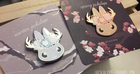 Spring/Winter Jackalope hard enamel pins
