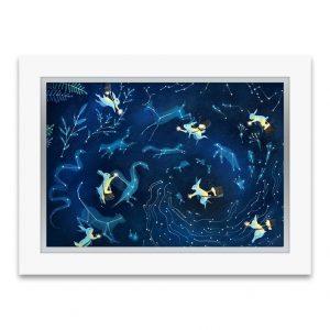 """Painting the Skies"" art print with Swarovski crystals"
