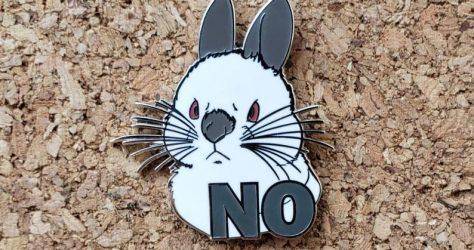 ThePipsqueakery – Grumpy Bun No! enamel pin